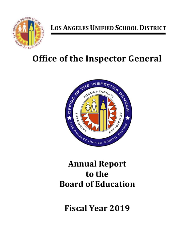 Document 'FY 2019 OIG Annual Report to the Board PUBLIC.pdf'